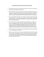 13. Absenteeism Policy for the Chemistry106 Lab.docx