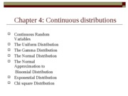 Continuous distributiion-111