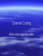 CSC 306 - 10c Coding theory (Channel Coding)