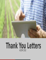 ACOM2302 Thank you Letters