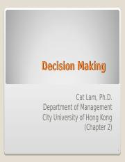 Week 2 - Decision Making.ppt
