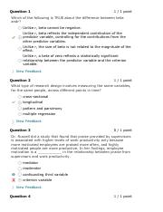 Quiz Submissions - Quiz 9 - Multivariate Correlational Research - Research Methods in Psychology Sec