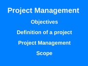 BUS 1500 Week ELEVEN - 2015 - Project Management