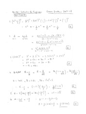 Exam 2007-08 Solutions Section A