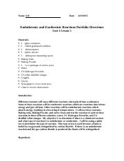 8B U3 Endothermic & Exothermic reactions st sampleAB.doc