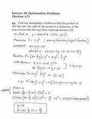 Lecture 29 on Analytical Geometry and Calculus I