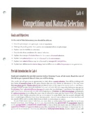 Competiton and Natural selection