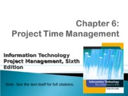 ch06-Project Time Mgt