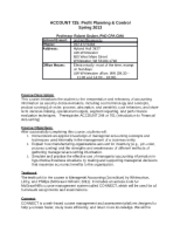 ACCOUNT 725 Syllabus (Spring 2013)
