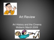 Art Review update