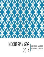 Indonesian gdp 2014.pptx