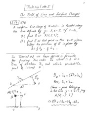 Tutorial 05 - Line Surface Charges Notes