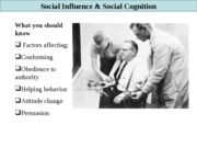 Social influence  & cogniition Fall 2008