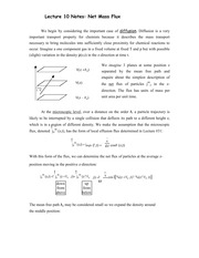 Lecture 10 Notes Net Mass Flux