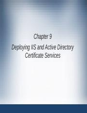 Module9 Deploying_IIS_and_Active_Directory_Certificate_Services.ppt