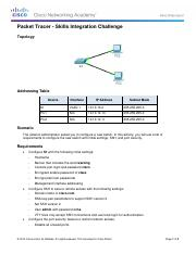 2.3.1.2 Packet Tracer - Skills Integration Challenge Instructions-mbrown