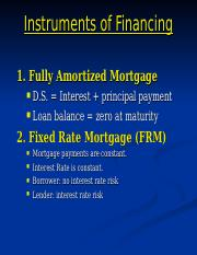 RE10-Mortgage Instruments.ppt
