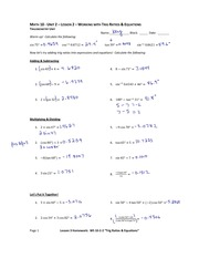 Trig Equations Notes