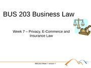 BUS 203 Business Law Topic 6 - Privacy