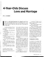 Jennings, 4 Year Olds Discuss Love and Marriage