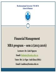MBA_FM_Lec 10_Capital structure and cost of capital_Linh.pdf