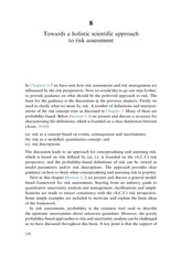 Chapter 8 Towards A Holistic Scientific Approach To Risk Assessment