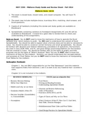 INSY 2299 Midterm Guide Fall 2014