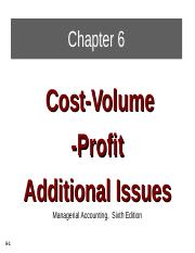BAB 2024 CH06_Cost Volume Profit Analysis-Add.Issue..ppt