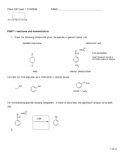 Chem 332 Exam I  2  WITH ANSWERS