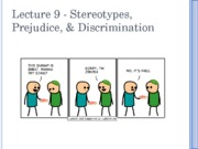 Lecture 9 - Stereotypes