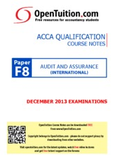 OpenTuition ACCA Paper F8 December 2013