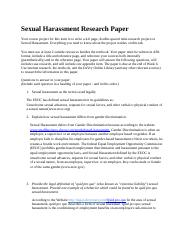 Sexual Harassment Research Paper1