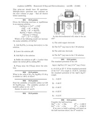 Homework 10 Ksp and Electrochemistry-problems