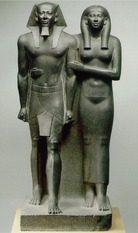 Sculpture of Menkaure and his wife