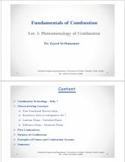 Lec 1-Phenomenology of Combustion