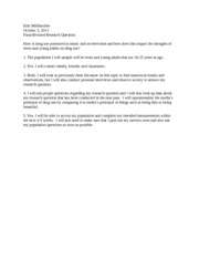 Final research question worksheet