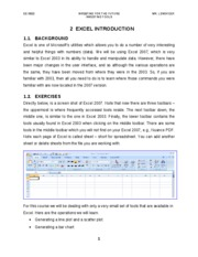 Computer Exercise #2 - Excel Introduction & Compounding - 02-09-11