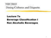Lecture 7a - Beverage Classification I