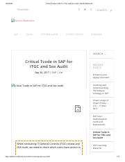 Critical Tcode in SAP for ITGC and Sox Audit _ Adarsh Madrecha.pdf