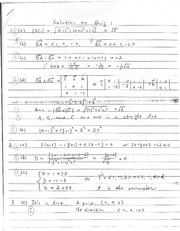 Quiz A Solutions on Calculus