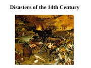 Disasters of the 14th Century Notes
