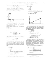 Physics Old Midterm 4 - Solutions