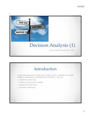 OR - Week 8, Decision Analysis  (1)