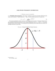 SOME SPECIFIC PROBABILITY DISTRIBUTIONS