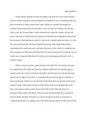 Great Gatsby literary criticism article essay