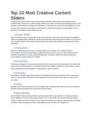 Top 10 Most Creative Content Sliders.docx
