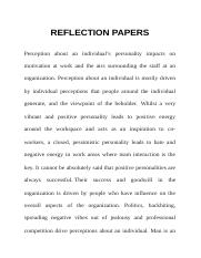 REFLECTION PAPERS45