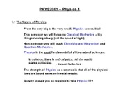 Physics 2001 Lecture 1