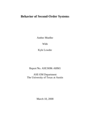 Behavior of Second-Order Systems