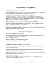 Thesis Statement & Outline_1